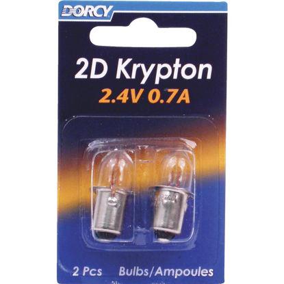 Picture of Dorcy 2D Krypton 2.4 Volt .7A Bulb (2-Pack)
